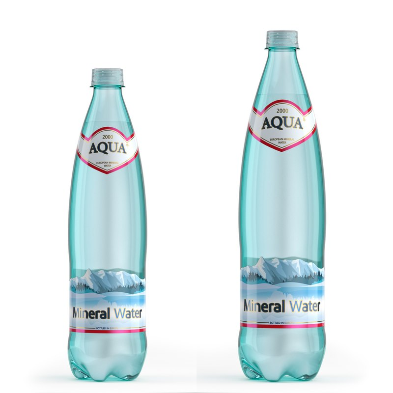 3D mineral water