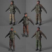 Terrorist 3d model pack