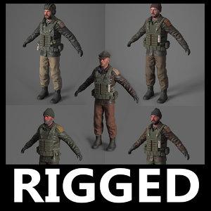 3D terrorist pack model