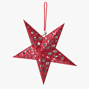 star ornament red 3D