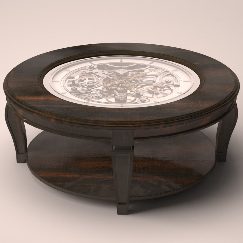 3d table coffee clock model turbosquid 1221113 Coffee table with clock