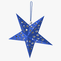 star ornament blue 3D model