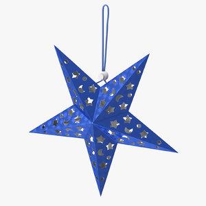 star ornament blue 3D model
