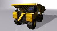 3D toy dump truck model