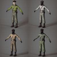 terrorist separatist pack 3D model