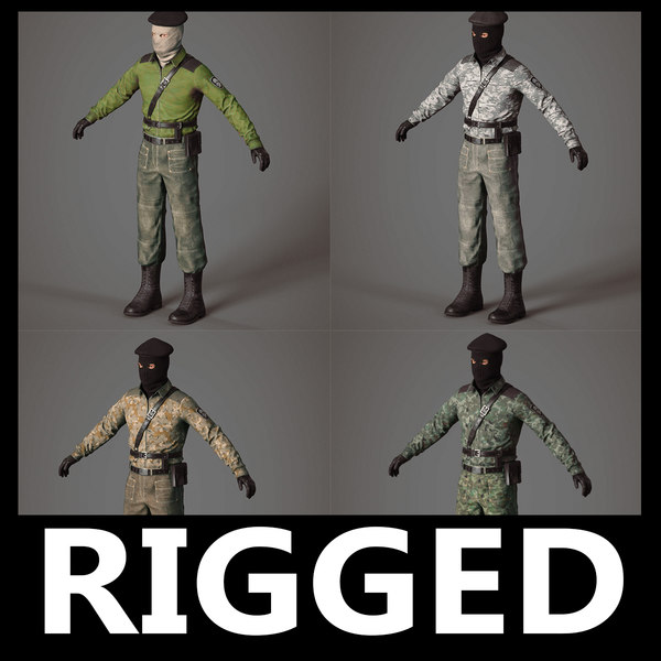 3D model terrorist separatist pack