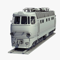 3D soviet train locomotive chs4