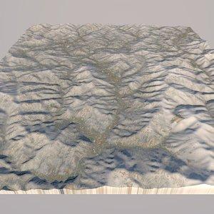 3D mountain 2018 olympics model