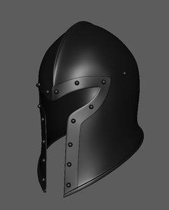 3D mederial helmet barbut model