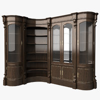 Cabinet classic corner bent glass