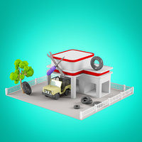 Low Poly Houses set 2