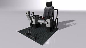 digger cockpit 3D model