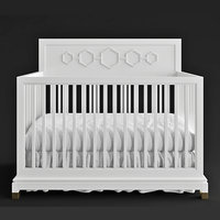 3D jonathan deluxe convertible crib model