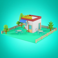 Low Poly Houses set 3