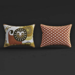 jonathan junior lionthrow pillow 3D