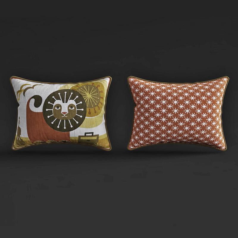 jonathan junior lionthrow pillow 3D