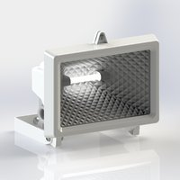 3D security flood light movement