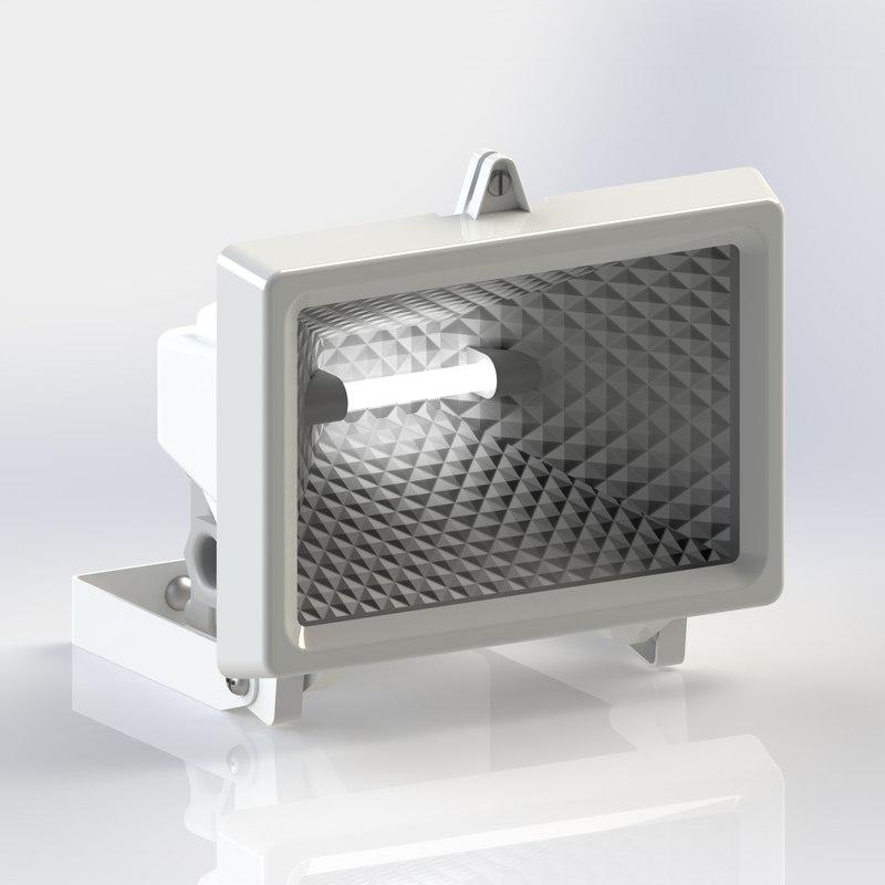 3D security flood light movement