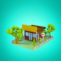 Low Poly Houses set 5