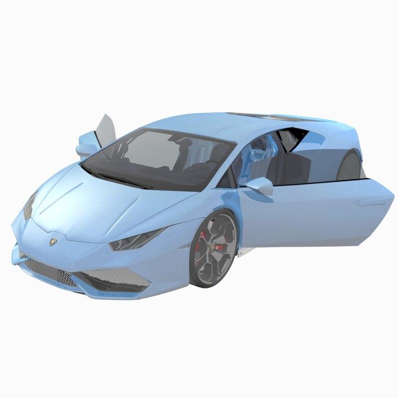 3D lamborghini huracan lp 610-4 model
