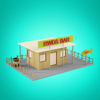 Low Poly Houses set 7