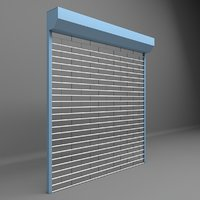 3D opened shutter garages shops
