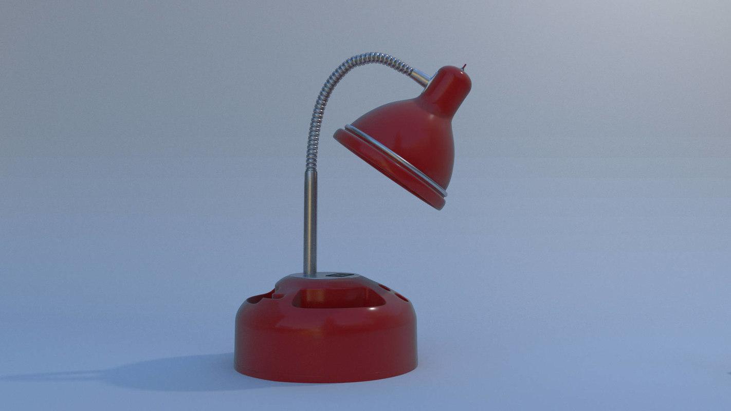 lamp rigged blender 3D model