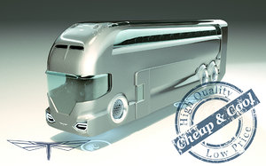 hover bus 3D model