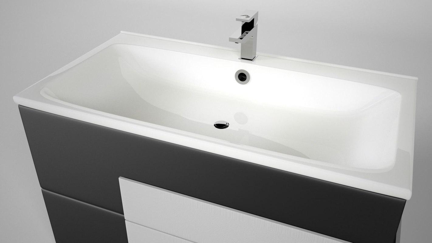 3D cupboard washbasin model