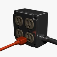 Electric Junction Box with Power Cord