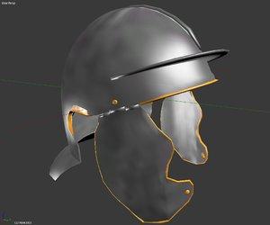 3D roman imperial infantry helmet model