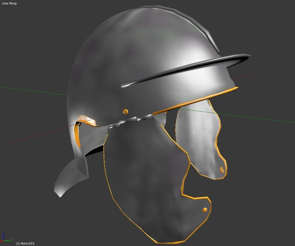 3D roman imperial infantry helmet model
