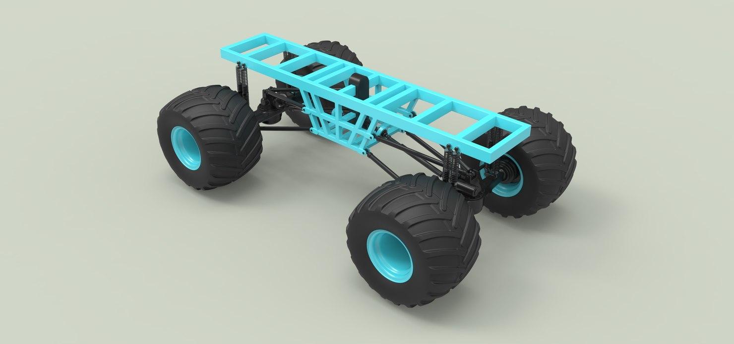 3D vehicle monster model