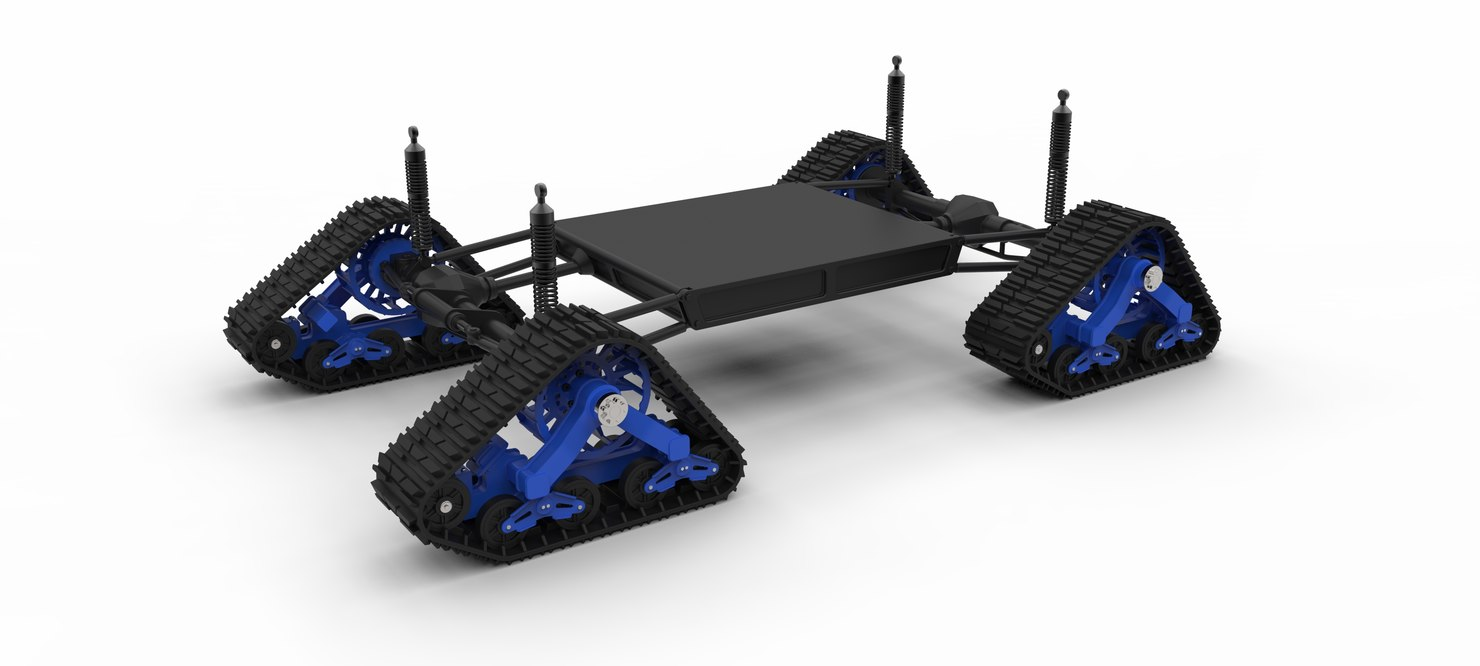 3D model vehicle track mattracks