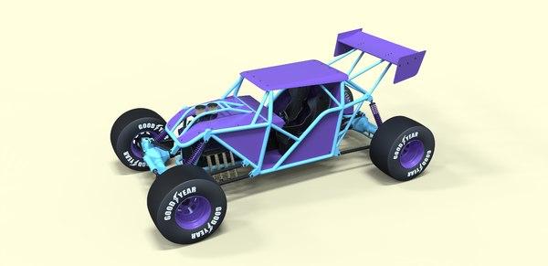 3D road buggy model