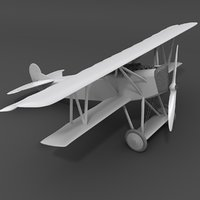simple fokker d vii 3D model