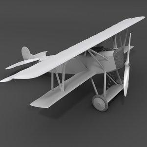 simple fokker d vii 3D model