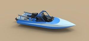 sprint boat 3D