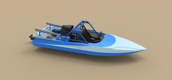sprint boat 3D