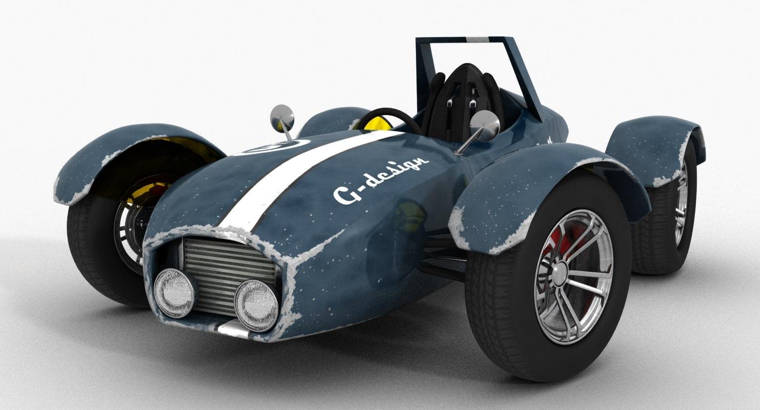 3D vintage racer