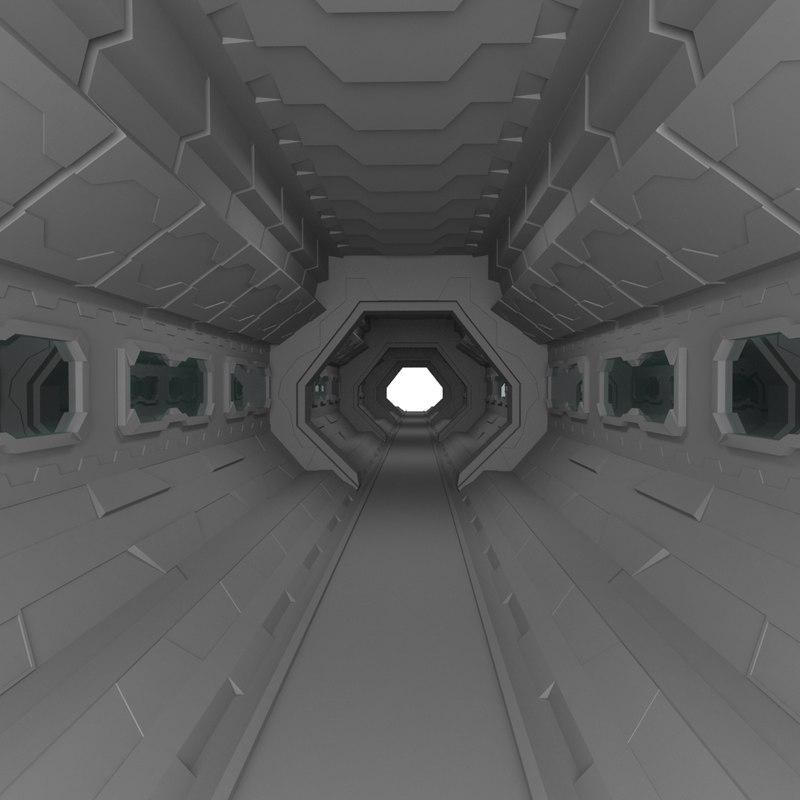 3D scifi interior model