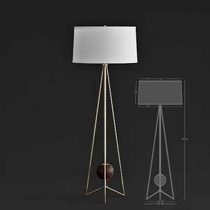 jonathan ojai floor lamp 3D model