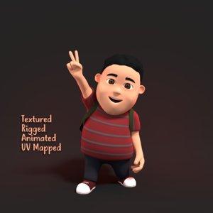 3D fat boy character