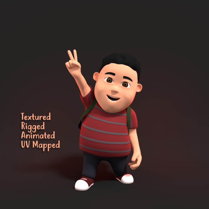 3D fat boy character