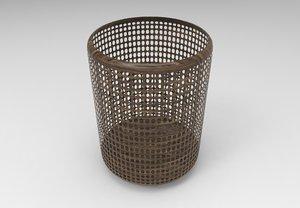 waste basket trash model