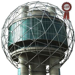 3D reunion tower