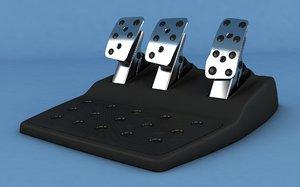 3D logitech g29 pedal model