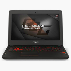 low-poly asus rog gl502vs 3D model