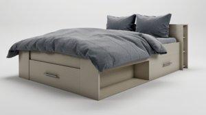 3D model bed marvelous designer