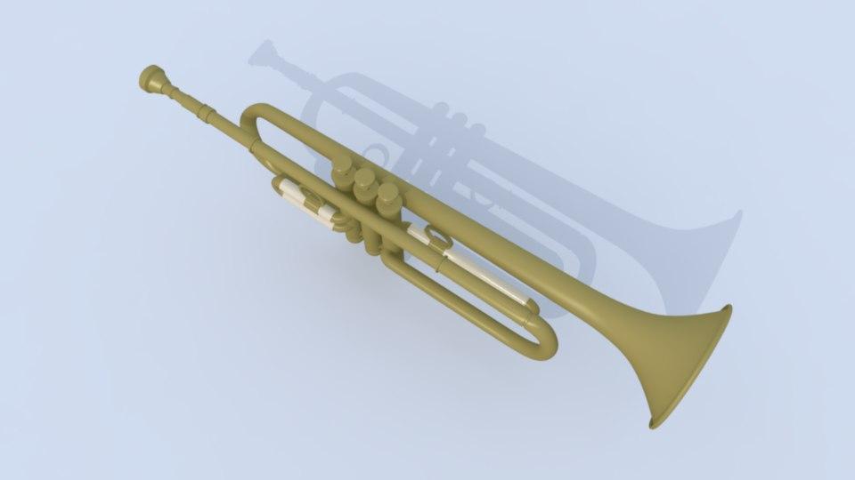 jazz trumpet 3D model